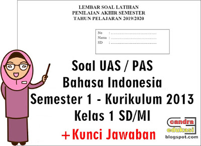 halo para pencari edukasi selamat berkunjung kembali di blog yang sangat Soal UAS Bahasa Indonesia Kelas 1 Semester 1 Tahun 2019/2020