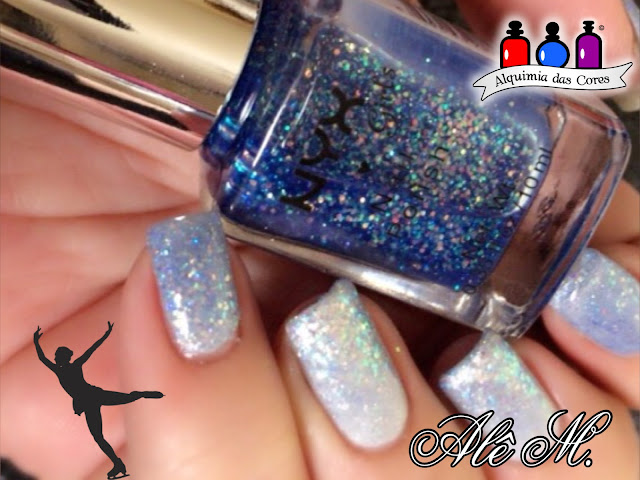 "EDK Elsa, NYX Turks and Calcos NGP 181, Nothern Lights Hologram Top Coat ""Silver"", Glitter, SBS013, SBS08"