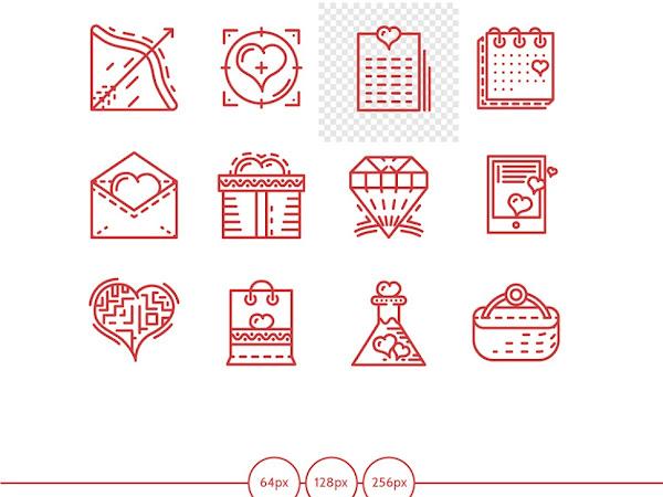 Download Unique Valentines day icon Free