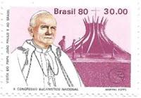 Selo Papa João Paulo II em Brasília