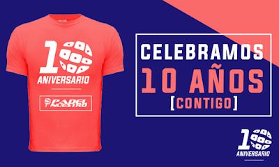 Camiseta conmemorativa aniversario Padel Nuestro