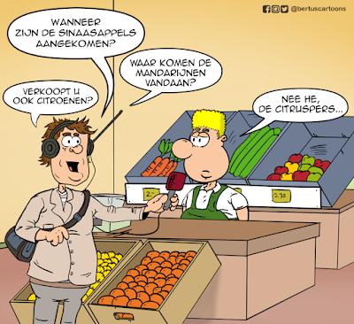 Bertus als groenteboer