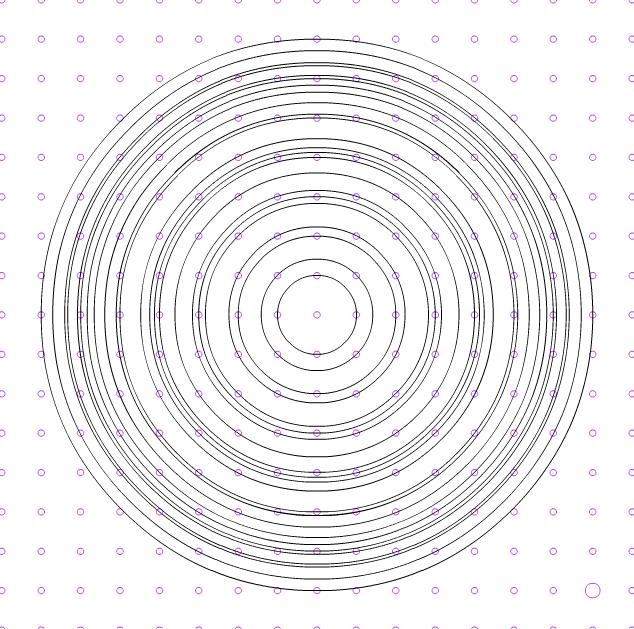Un problema en la trama de puntos ortométrica. ¿Regularidad o indeterminación?