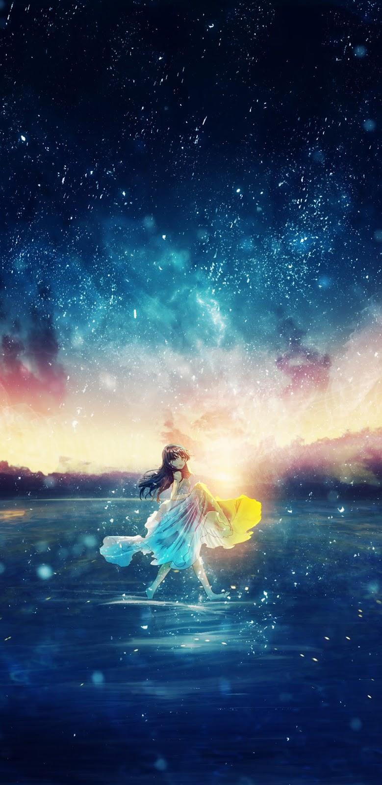 Bầu trời đầy sao giữa hoàng hôn