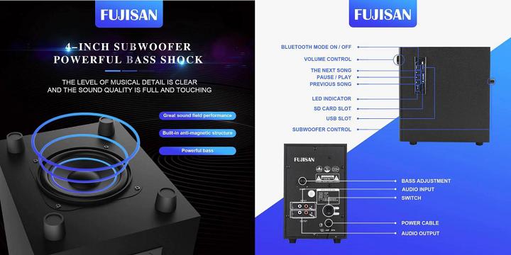 Zeus x Fujisan A-350 Desk Speaker System