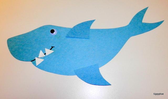 shark hat craft template - tippytoe crafts shark craft