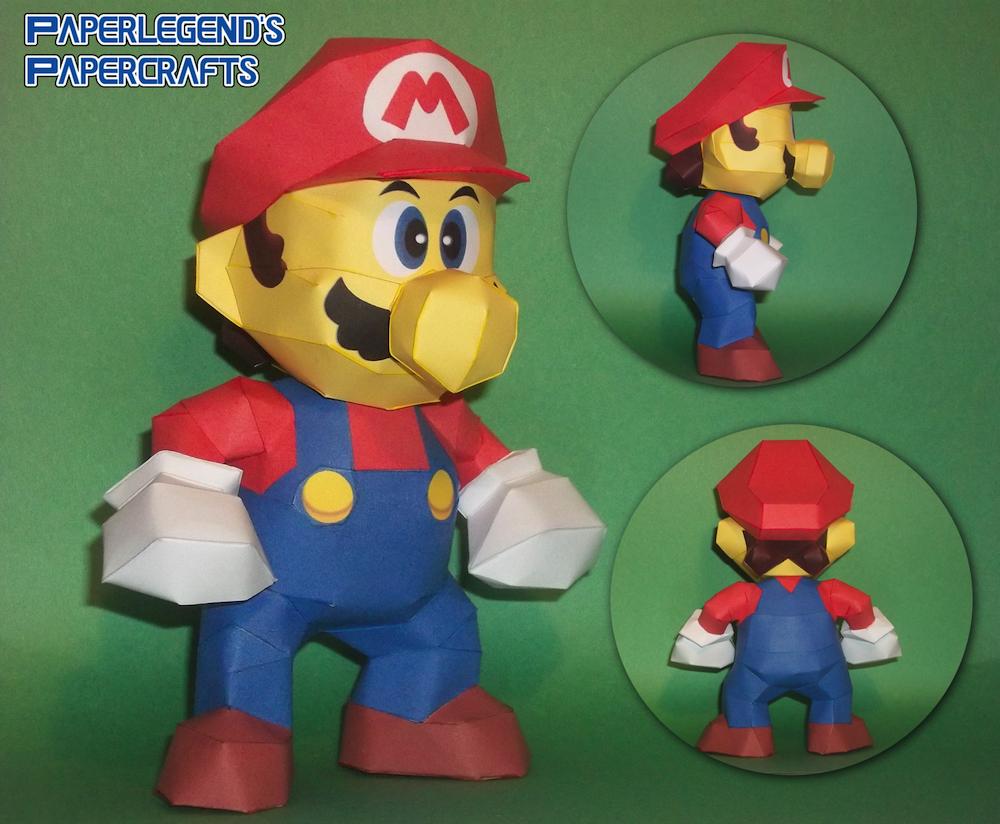 Papercraft Mario Giga Bowser