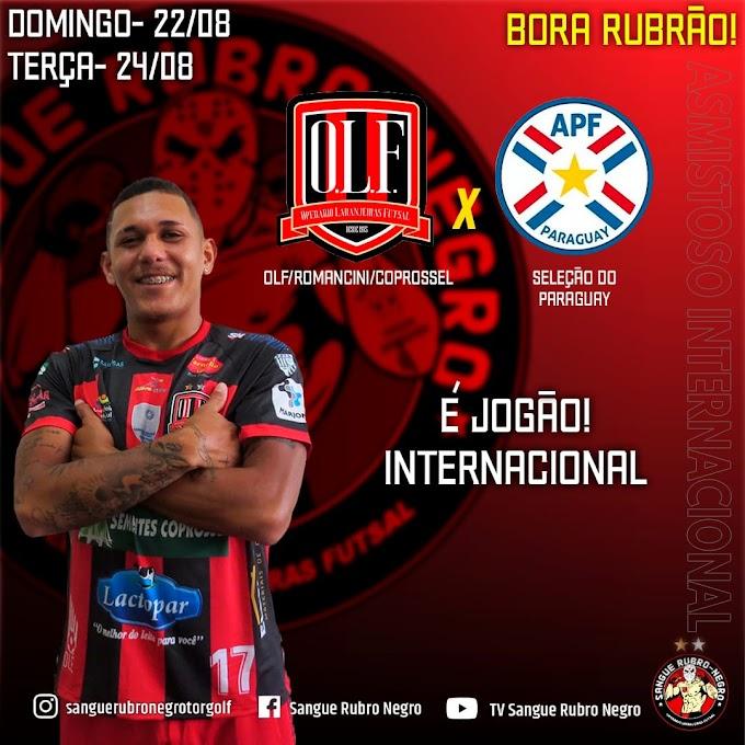Domingão tem amistoso internacional: Operário Laranjeiras x Seleção do Paraguai