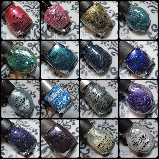 16 polishes that I will try to use up