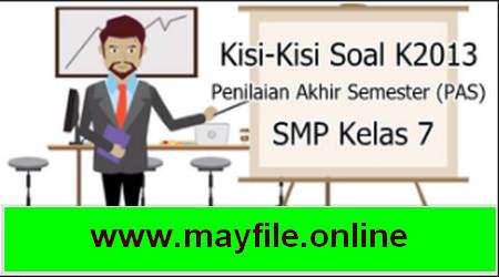 Kisi-Kisi Soal UAS/PAS SMP Kelas 7 Semester 1 Semua Mapel
