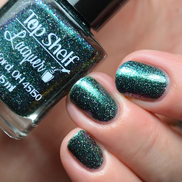 teal multichrome nail polish
