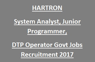 HARTRON System Analyst, Jr. Programmer Jobs Recruitment 2017