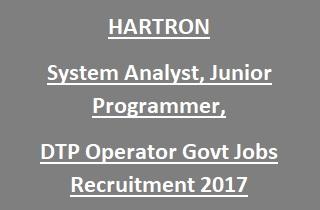 HARTRON System Analyst, Jr. Programmer Jobs Recruitment 2017
