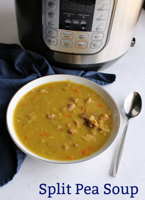 Turn a ham bone and bag of dry split peas into a hearty soup in a fraction of the time with the help of a pressure cooker. This recipe will have you sitting down to a bowl of warm comforting goodness before you know it.