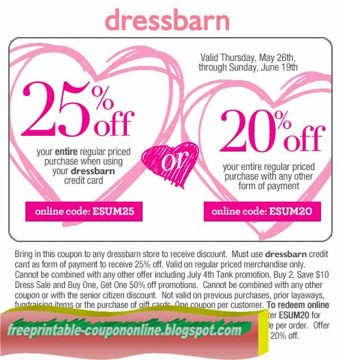 Dec 06, · (Text Offer) Sign up to get an instant 20% off Dress Barn coupon code when you sign up for text alerts. Sign up with your full name and your phone number, You will get alerts about upcoming and current sales, deals and coupons.