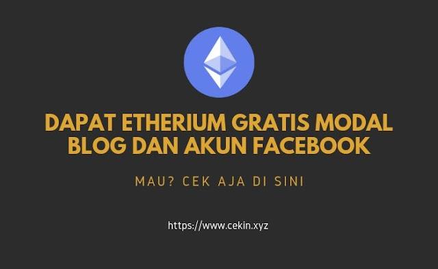 Cara mendapatkan etherium gratis dari internet