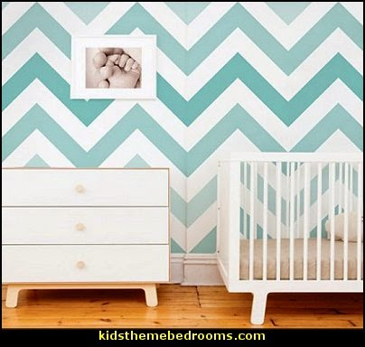 Chevron Teal Peel & Stick Fabric Wallpaper