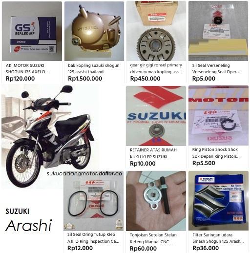 Suzuki Arashi engine parts