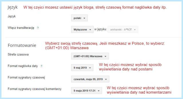 Formatowanie na Bloggerze.