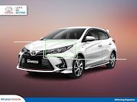Harga Dan Fisik : Headlamp Kiri Toyota Yaris TRD 2021 81070-YP220