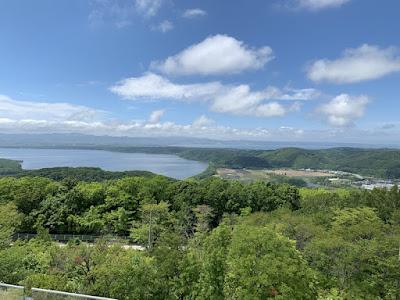 天都山展望台から網走湖方面