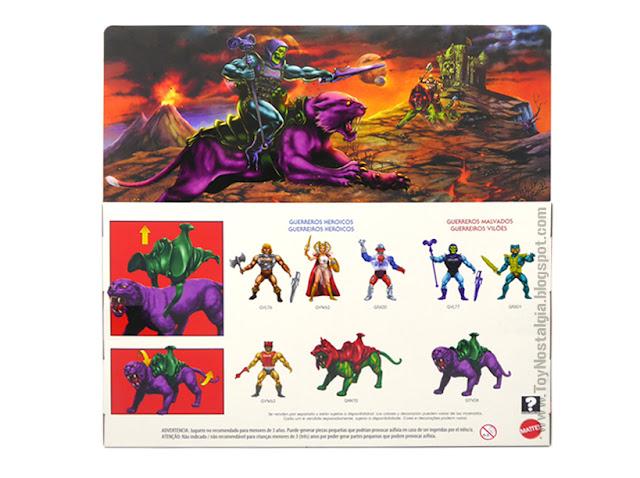 PANTHOR  Envase dorso Masters Del Universo Origins (MOTU ORIGINS MATTEL)