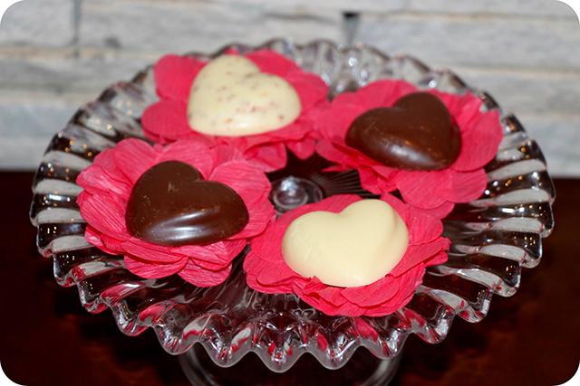 Coração de Chocolate da Kopenhagen : Decoração do Jantar Dia dos Namorados