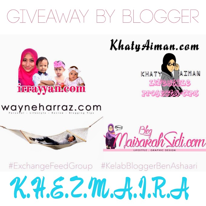 Giveaway Februari 2016 by Blogger KHEZMAIRA