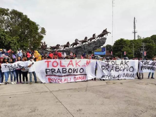 Kecewa Ucapan Prabowo, Ribuan Warga Boyolali Turun ke Jalan