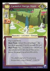 My Little Pony Canterlot Hedge Maze Canterlot Nights CCG Card