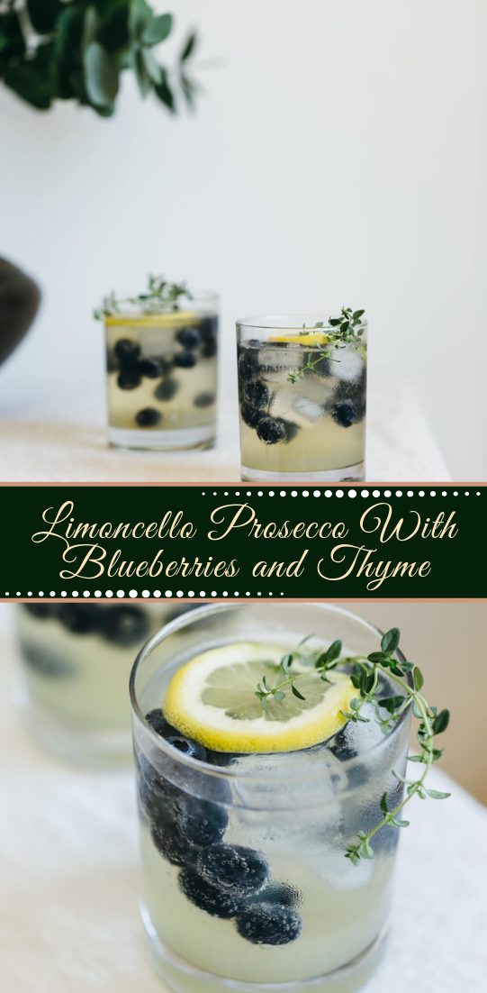 Limoncello Prosecco With Blueberries and Thyme  #healthydrink #easyrecipe #cocktail #smoothie