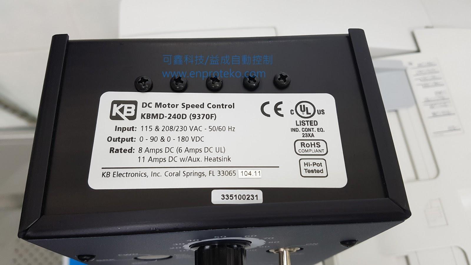 Kb kbmd 240 dc motor speed control for Kbmd dc motor speed control