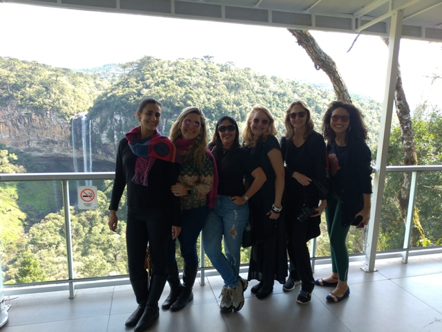 Mulheres Mundo Afora visitando os Bondinhos Aéreos no Parque da Serra, em Canela, na Serra Gaúcha