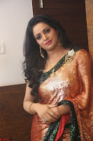Udaya Bhanu lookssizzling in a Saree Choli at Gautam Nanda music launchi ~ Exclusive Celebrities Galleries 103.JPG