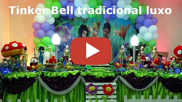 Vídeo decoração Tinker Bell em mesa tradicional