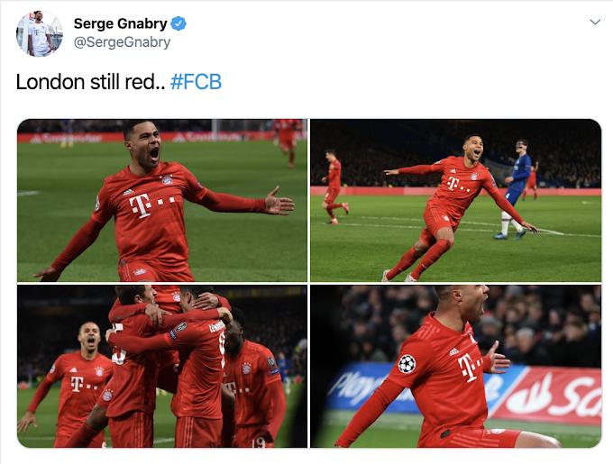 London still red' - Gnabry tweet delights Arsenal fans after destroying Chelsea