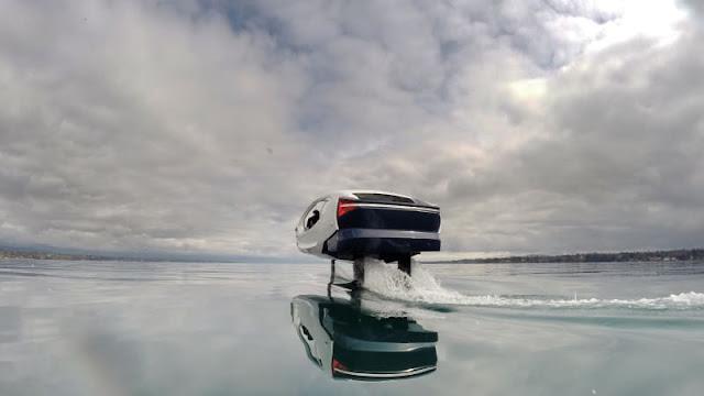 SeaBubbles, Taksi Listrik yang Bisa Terbang di Atas Laut