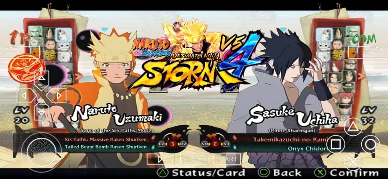 Naruto Ultimate Ninja Storm 4 PSP ISO Download