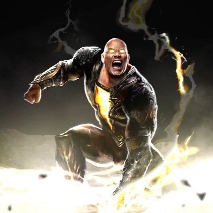 Black Adam first look with his superhero costume | Dynamicarts