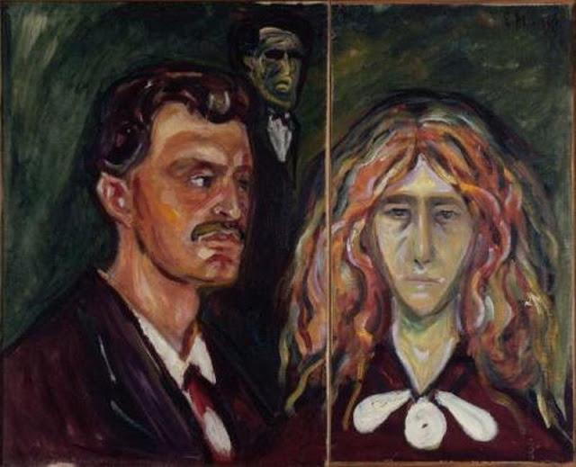 Эдвард Мунк - Автопортрет с Tуллой Ларсен - 1905