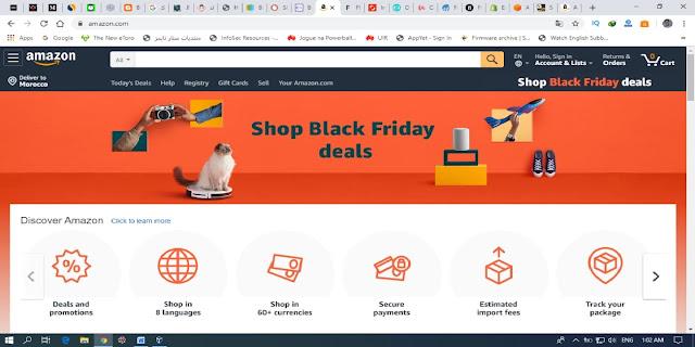 الموقع الثالث موقع الربح من الانترنت AMAZON .