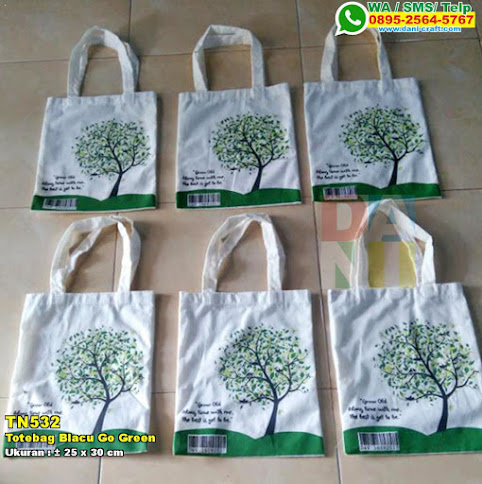 Totebag Blacu Go Green