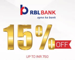 15 % Off RBL Bank Movies and More offer