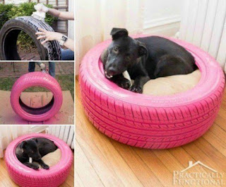 Make something spacial for your dog by creating an unique dog bed made by old tire. Look the photo below and create a wonderful home made dog bed.