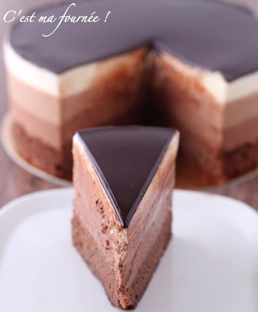 C Est Ma Fournee L Entremets Trois Chocolats De Valrhona