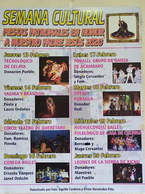 Programa cultural Fiestas Patronales Parácuaro 2020