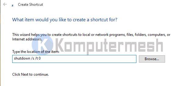 Cara Membuat Shortcut Shutdown dan Restart Windows 10/8/7