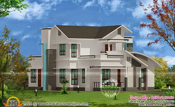Mix roof house plan