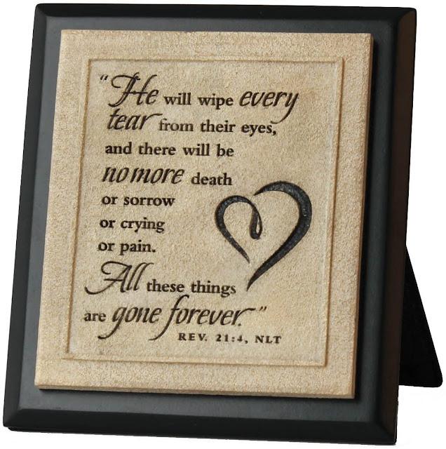 Revelation 21:4 Stone Plaque