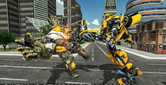 Game Grand Shooting Robot Transformers Car 2019